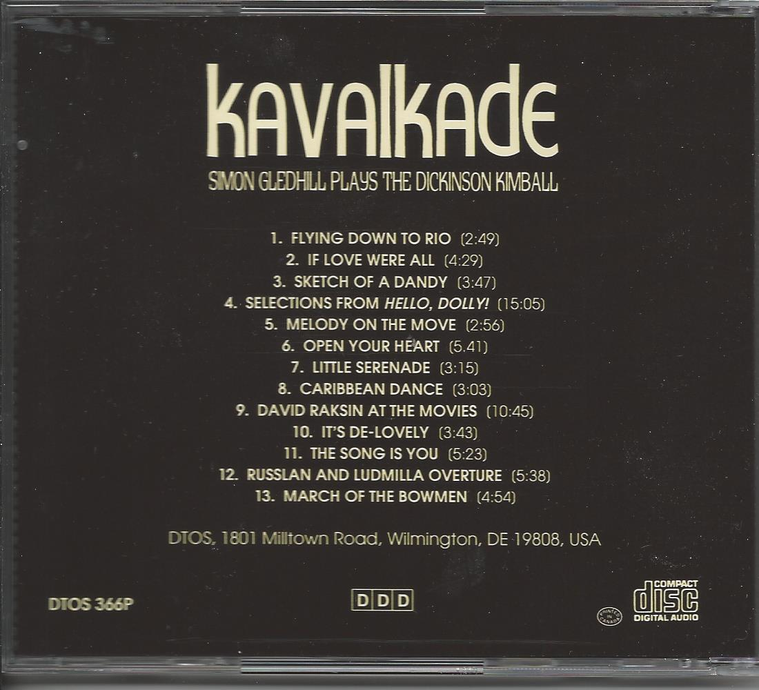 Simon Gledhill Kavalkade CD - Music Titles